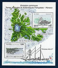 TAAF FSAT French Antarctic 2012  Carte Maps  Taaf Monaco Sheet  MNH **