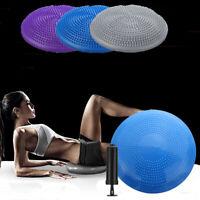 Yoga Balance Board Gym Stability Training Cushion Wobble Pad Ball with Free  Y