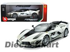 Bburago 1:18 Ferrari FXX-K EVO #70 White Diecast Model Race & Play 18-16012WH