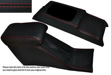 RED STITCH CONSOLE & ARMREST SKIN COVERS FITS HONDA CIVIC EG6 EG9 EJ1 92-95