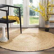 Natural Jute Rug Handmade 100%Natural Round Area Carpet 60x60Cm Modern Mats