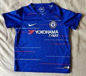 "Chelsea Home Blue Football Shirt 2018 2019 NIKE Boys 116cm 28"" 5-6 Years"