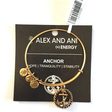 Alex and Ani NWT Nautical Anchor Bangle Gold w/card in white gift box $18.99