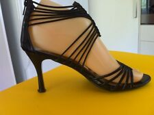 Ladies Black Glitter NO! SHOES Heels AUS Size 6 EU 37 Evening High Strappy