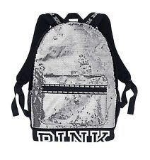 Victorias Secret Sequins Bling Campus Full Size Backpack School Gym Tote Bag NWT