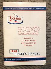 New listing 1968 Cessna 300 Series Electronic Communication &a 00004000 mp; Navigation Owner's Manual