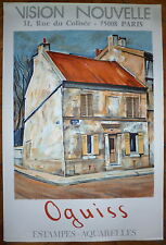 Takanori Oguiss affiche lithographie vision nouvelle Paris
