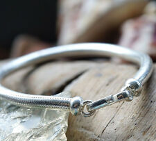 Massiv Handarbeit Armband 18,5 cm Silberarmband 4,5 mm Schlangenkette Silber