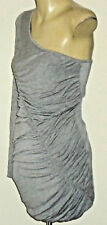 BETTINA LIANO Ruched1ShoulderGreyMarlMiniSz10NWoT