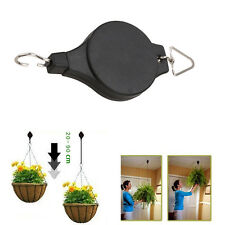 2X Retractable Pulley Hanging Garden Plant Pot Basket Pull Down Hanger Tool