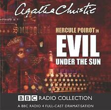 AGATHA CHRISTIE * EVIL UNDER THE SUN  HERCULE POIROT * 2 DISC AUDIO BOOK * BBC