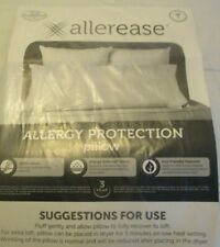 Allerease, Allergy Protection Pillow White Standard  Size Pillow.