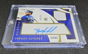 Yordan Alvarez Immaculate Jersey Autograph Clearly # 82/99 RC MLB Astros 🔥 Auto