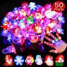 Christmas Light Ring LED Flashing Ring Christmas Party Favors Kids Toys 50Pcs