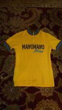 Vintage KONA ManoMano wool jersey Parentini embroidered yellow Large NM Eroica