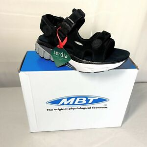 MBT MTR Womens Black Sandals Comfortable Walking Shoes size 8 - NEW