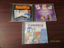 Software CD Roms - Entertainment Pack, Homewise, Publisher 4, Typing Teacher