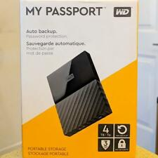WD My Passport 4TB External USB 3.0 Portable Hard Drive Black WDBYFT0040BBK-OA