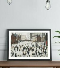 LS Lowry Winter in Pendlebury FRAMED WALL ART PRINT ARTWORK PAINTING 4 SIZES
