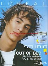 Loreal Out Of Bed Fibre Putty 2003 Magazine Advert #1984