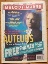 Melody Maker 20/2/93 Auteurs cover, Free Shamen poster, Ice-T, Strangelove