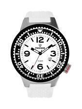 POSEIDON Herren-Armbanduhr XL Slim Analog Silikon UP00266 Weiß UVP 119,- €