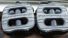 """DiamondBack Bicycle Pedals pair 4"""" Square x 1/2"""" spindle"""
