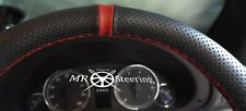 FOR MERCEDES VITO 2 W639 PERFORATED LEATHER STEERING WHEEL COVER +DARK RED STRAP