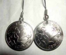 Bermuda lily coin earrings-handcrafted in the USA