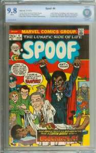 SPOOF #4 CBCS 9.8 WHITE PAGES