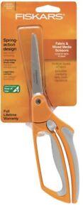 "Fiskars 8"" Soft Grip Spring Action Fabric & Mixed Media Bent Scissor New! *SALE*"