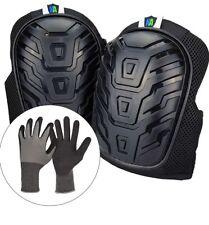 Professional Adjustable Heavy Duty Knee Pads for Work w/ Gel Cushions& Eva Foam