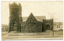 Baptist Church Elmhurst Long Island New York Real Photo RPPC 1909 postcard