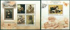 Art Leonard da Vinci Mona Lisa Paintings Nude Middle Ages Gabon MNH stamp set