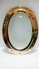 "Porthole Marine Ship Boat Brass Oval  Window With glass Size-19""X14""Inch Wt- 5kg"