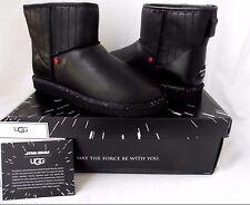 UGG Star Wars Darth Vader Classic Mini Black Leather Boots Ltd Edition 9US NIB