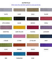 "GLITTER Tulle Fabric SPOOL 6""X10yds Wedding Bridal Party Decoration Tutu Craft"