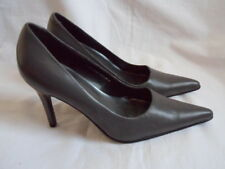 New Grey 100% Leather Pointed Toe Court Shoes by Barratts UK 3 / EUR 35.5
