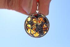Meteorite Jewelry Sericho Meteorite pendant 925 silver Seed of life