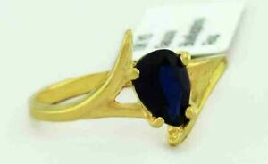 GENUINE 1.08 Cts BLUE SAPPHIRE RING 10k GOLD ** Free Certificate Appraisal **