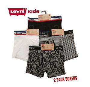 Boys 2 Pack Designer Boxers Shorts Pants Briefs Kids Underwear New BNWT