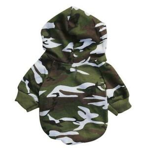 Dog Clothes Small Pet Camouflage Hoodie Winter Warm T-shirt Cotton French Bulldo