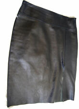 Guess Collection Genuine Leather Skirt Women's Size 4 Black Very Soft