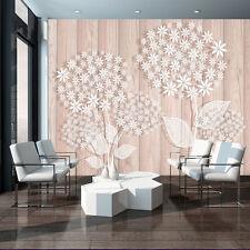 Foto imagen papel pintado papel pintado carteles flores madera Weiss plantas crema 3fx3450p8