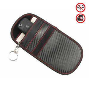 1x Car Key Signal Blocker Pouch Wallet Case Fob Pouch Keyless RFID Blocking Bag