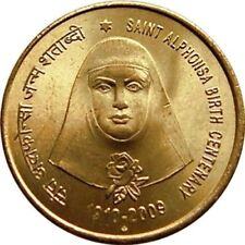 India-republic 5 Rupees, 2009, St. Alphonsa, 100th Anniversary uncirculated coin