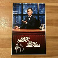 Signed Seth Meyers Tour Poster w/ Proof (Late Night Autograph)