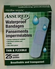 1 Box Of 25 Assured Waterproof Bandages Cushion Pad Breathable & Transparent NIP