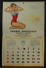Stuart Schmidt Calendar Page July 1954 Patriotic Suit She Goes Over With a Bang