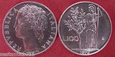 C32  ITALY  ITALIA REPUBBLICA ITALIANA 100 LIRE MINERVA I 1975 KM 96.1 FDC UNC